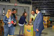 Superintendent Richard Carranza visits Delmar Fieldhouse to thank volunteers for their help.