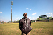 Sekwati Mokoena, 60, from Boipatong, pictured in the George Thabe Stadium, in Sharpeville, South Africa. It was here on 10 December 1996 that President Nelson Mandela signed into law of the Constitution of South Africa.
