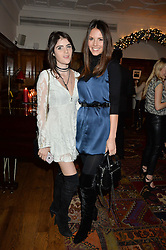 LONDON, ENGLAND 1 DECEMBER 2016: Left to right, Lexi Abrams, Stephanie Peers at the Smythson & Brown's Hotel Christmas Party held at Brown's Hotel, Albemarle St, Mayfair, London, England. 1 December 2016.