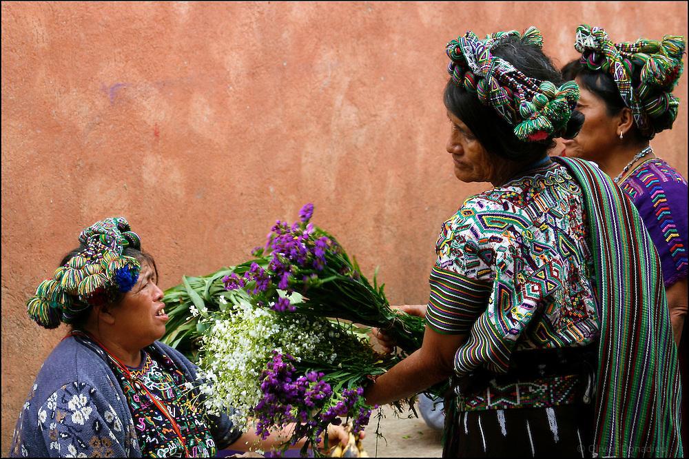 La vendeuse de fleurs. Nebaj