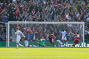 Middlesbrough celebrate Middlesbrough forward David Nugent goal during the Sky Bet Championship match between Middlesbrough and Leeds United at the Riverside Stadium, Middlesbrough, England on 27 September 2015. Photo by Simon Davies.