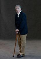 A portrait of Antony Beevor at the Edinburgh International Book Festival 2012 in Charlotte Square Gardens<br /> <br /> Pic by Pako Mera