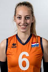 08-12-2017 NED: Reportage pre jeugd Oranje meisjes, Arnhem<br /> Alaska Zwaanswijk #6 of VC Nesselande