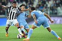 Carlos Tevez Juventus, Danilo Cataldi, Dos Santos Mauricio Lazio <br /> Torino 18-04-2015 Juventus Stadium Football Calcio Serie A 2014/2015 Juventus - Lazio  . Foto Image Sport / Insidefoto