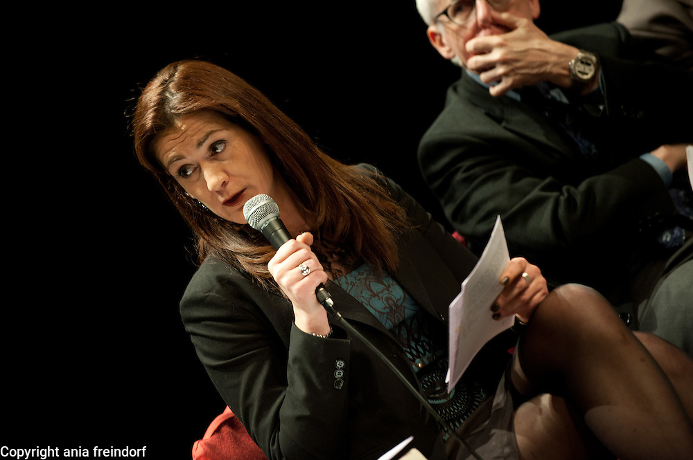 """Conference """"Fukushima, nuclear accident - four years later"""", Green Cross Paris, France, Sandrine Belier, former Member of European Parlament,"""