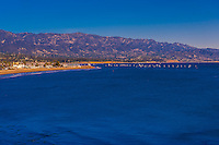 Santa Barbara, California USA (with Santa Ynez Mountains in background).