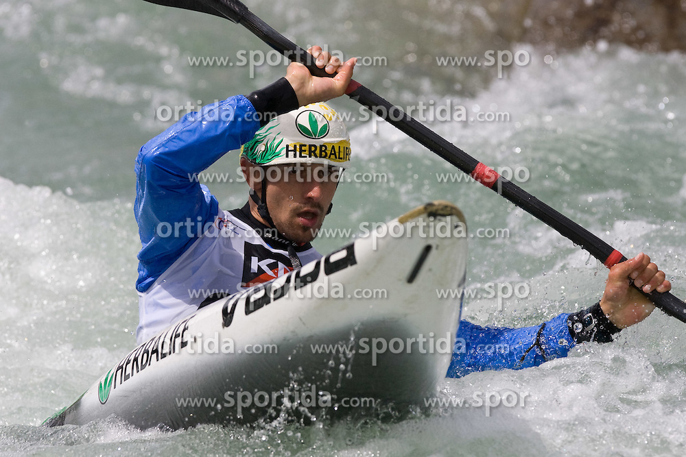 Diego Paolini of Italy competes in the Men's Kayak K1 at Kayak & Canoe ICF slalom race Tacen 2010 on May 16, 2010 in Tacen, Ljubljana, Slovenia. (Photo by Vid Ponikvar / Sportida)