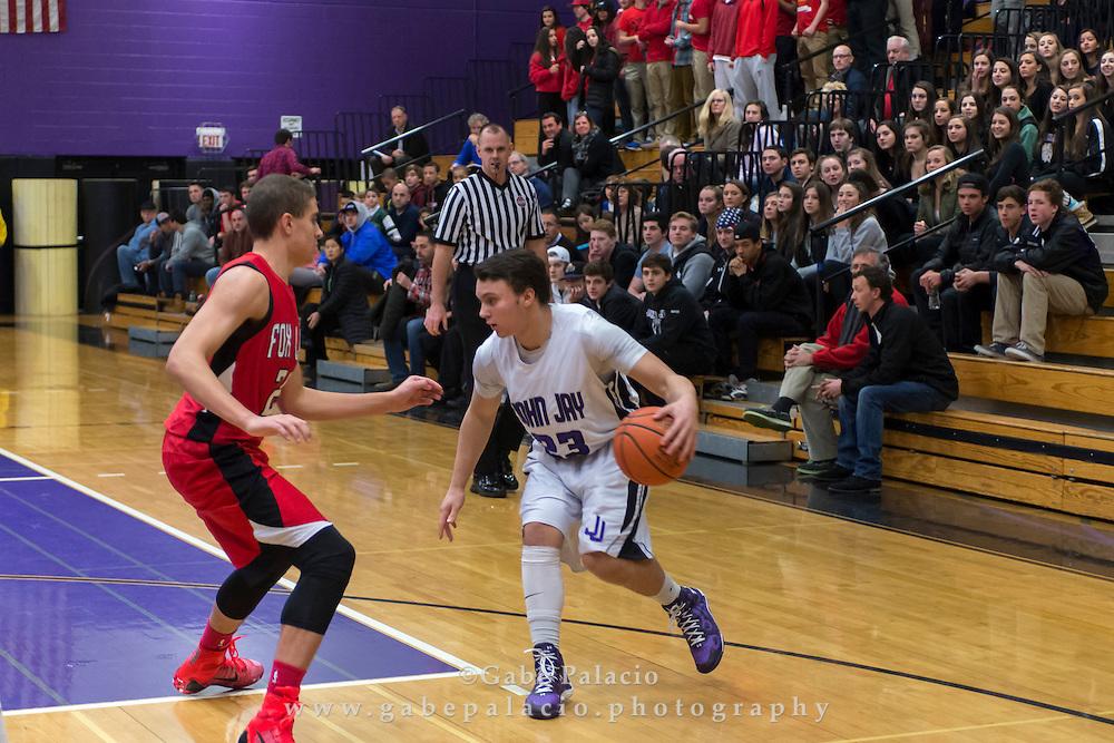 John Jay Varsity Basketball game vs. Fox Lane at John Jay High School on January 5, 2015. (photo by Gabe Palacio)