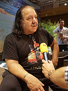 Berlin, Germany - 18 October 2012<br /> Porn star Ron Jeremy promoting his 'Ron Jeremy' brand of rum at the Venus Berlin 2012 adult industry exhibition in Berlin, Germany. Ron Jeremy, born Ronald Jeremy Hyatt, has been an American pornographic actor since 1979. He faces sexual assault allegations which he strenuously denies. There is no suggestion that any of the people in these pictures have made any such allegations.<br /> www.newspics.com/#!/contact<br /> (photo by: EQUINOXFEATURES.COM)<br /> Picture Data:<br /> Photographer: Equinox Features<br /> Copyright: &copy;2012 Equinox Licensing Ltd. +448700 780000<br /> Contact: Equinox Features<br /> Date Taken: 20121018<br /> Time Taken: 12152702