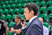 DESCRIZIONE : Campionato 2014/15 Dinamo Banco di Sardegna Sassari - Dolomiti Energia Aquila Trento Playoff Quarti di Finale Gara4<br /> GIOCATORE : Guido Federico Di Francesco<br /> CATEGORIA : Arbitro Referee Before Pregame Curiosità<br /> SQUADRA : AIAP<br /> EVENTO : LegaBasket Serie A Beko 2014/2015 Playoff Quarti di Finale Gara4<br /> GARA : Dinamo Banco di Sardegna Sassari - Dolomiti Energia Aquila Trento Gara4<br /> DATA : 24/05/2015<br /> SPORT : Pallacanestro <br /> AUTORE : Agenzia Ciamillo-Castoria/L.Canu