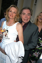 LORD & LADY LLOYD-WEBBER at the Tatler Summer Party in association with Moschino at Home House, 20 Portman Square, London W1 on 29th June 2005.<br />
