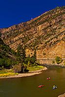 Kayaking on the Colorado River in Glenwood Glenwood Springs, Colorado USA