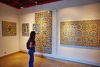 Portugal, Lisbonne, Musée National de l'Azulejo, azulejo ancien // Portugal, Lisbon, National Museum of Azulejo