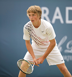 LIVERPOOL, ENGLAND - Thursday, June 18, 2009: Liam Broady (GBR) during Day Two of the Tradition ICAP Liverpool International Tennis Tournament 2009 at Calderstones Park. (Pic by David Rawcliffe/Propaganda)