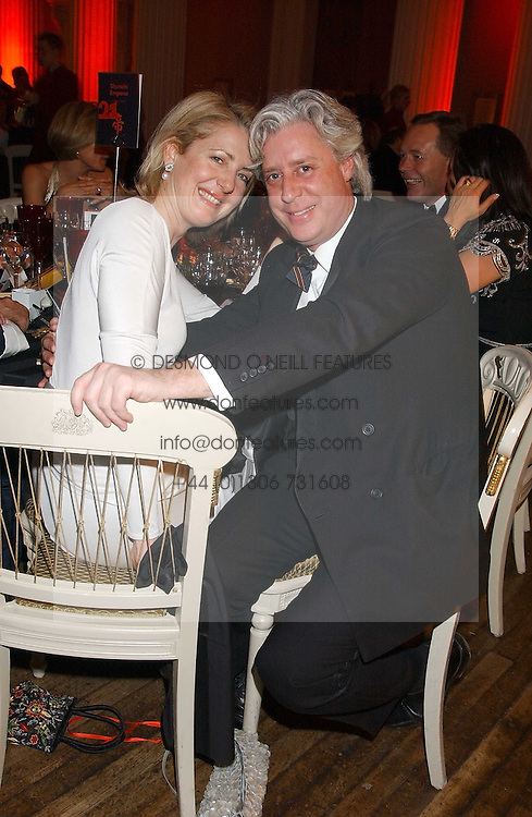 MARIE CLAIRE AGNEW and JAMES OLIVER at a charity dinner 'By Imperial Command' - a Chinese New Year Gala Dinner in aid of the charity Kids held at The Banqueting House, Whitehall, London on 8th February 2006.<br />