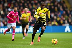 Odion Ighalo of Watford in action - Mandatory byline: Jason Brown/JMP - 27/02//2016 - FOOTBALL - Vicarage Road - Watford, England - Watford v Bournemouth - Barclays Premier League