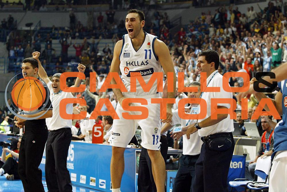DESCRIZIONE : Belgrado Belgrade Eurobasket Men 2005 Francia Grecia<br /> GIOCATORE : Ntikoudis<br /> SQUADRA : Grecia Greece<br /> EVENTO : Eurobasket Men 2005 Campionati Europei Uomini 2005<br /> GARA : Francia Grecia France Greece<br /> DATA : 24/09/2005<br /> CATEGORIA :<br /> SPORT : Pallacanestro<br /> AUTORE : Ciamillo&amp;Castoria/Fiba Europe Pool