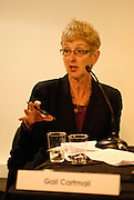 'Take Back Our World' Conference.<br /> Launch of the 'Global Justice Now' group, formally the 'World Development Movement'.<br /> 'Make it public: turning the tide on privatisation' session.<br /> Gail Cartmail, assistant general secretary of the trade union UNITE and a member of the general council of the TUC.