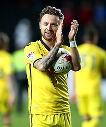 Matt Taylor of Bristol Rovers holds the match ball after scoring a hat trick to help his side to a 3-3 draw at Milton Keynes Dons - Mandatory by-line: Robbie Stephenson/JMP - 18/10/2016 - FOOTBALL - Stadium MK - Milton Keynes, England - Milton Keynes Dons v Bristol Rovers - Sky Bet League One