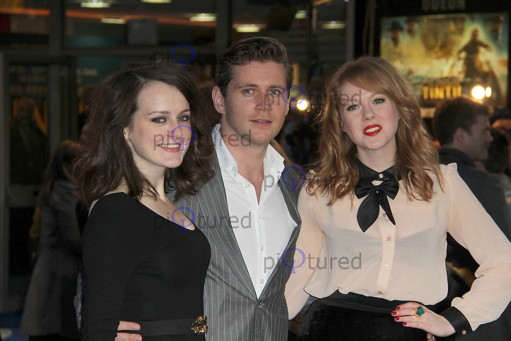 Sophie McShera; Allen Leech; Zoe Boyle The Adventures of TinTin: The Secret of the Unicorn UK Premiere; Odeon West End Cinema, Leicester Square, London, UK. 23 October 2011.  Contact: Rich@Piqtured.com +44(0)7941 079620 (Picture by Richard Goldschmidt)