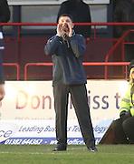 Greenock Morton manager Allan Moore shouts instructions - Dundee v Greenock Morton, William Hill Scottish Cup 5th Round at Dens Park .. - © David Young - www.davidyoungphoto.co.uk - email: davidyoungphoto@gmail.com