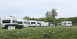 Gosport,Hampshire Monday 9th May 2016 <br /> ravellers have upgraded from the DC Leisure Centre complex in Forest Road to Alver Country Park on Grange Road over the weekend. The travellers  have descended upon a Gosport beauty spot leaving angry families urging council chiefs to kick them off.<br /> <br /> Up to 20 caravans were still illegally occupying Alver Country Park this morning after first entering the site at on Friday evening with some moving onto the site over the weekend.<br /> <br /> Their arrival has dismayed visitors to the tranquil park today, many of whom were demanding Gosport Council to force them out and even start clamping their vans.<br /> <br /> <br /> This morning anxious council bosses called it &quot;unauthorised encampment&quot; and said they had already taken steps to try to get them off by starting an eviction process.<br /> <br /> They also gave the travellers a deadline to leave, but this has passed and they still remain at the site.<br /> <br /> People visiting the site, many of whom were with their children, said they want them gone.<br /> <br /> <br /> <br /> Lauren Park who was visiting the park with her two young children to use the newly installed play facility, said: &quot;It's disgusting, they know full well they shouldn't be here.&quot;<br /> <br /> Dog walker Claire Drake  said: &quot;It is quite intimidating, they don't seem to care about being here.&quot;&ldquo;@UKNIP