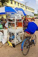 Popcorn kiosk in Ciro Redondo, Ciego de Avila, Cuba.