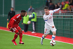 YSTRAD MYNACH, WALES - Thursday, February 19, 2015: Czech Republic's Tomas Balvin in action against Wales during a friendly match at the Centre of Sporting Excellence. (Pic by Carl Robertson/Propaganda)