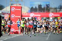 Start of the Elite Men's race<br /> The Virgin Money London Marathon 2014<br /> 13 April 2014<br /> Photo: Javier Garcia/Virgin Money London Marathon<br /> media@london-marathon.co.uk