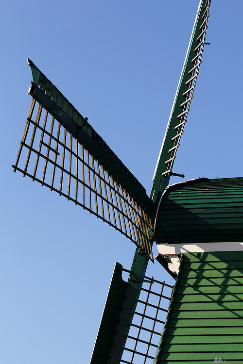 Detail on one of the windmills that line the river at Zaanse Schans, just north of Amsterdam