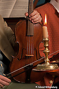 Chamber Music at the Governor's Palace Ballroom by candlelight. Colonial Williamsburg's Historic Area. Williamsburg, Virginia. Photo by David M. Doody
