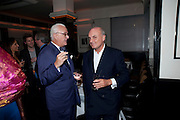 MANOLO BLAHNIK; NICHOLAS COLERIDGE, Dinner hosted by editor of British Vogue, Alexandra Shulman in association with Net-A-Porter.com in honour of 25 years of London Fashion Week and Nick Knight. Caprice. London.  September 21, 2009