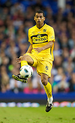 LIVERPOOL, ENGLAND - Wednesday, August 4, 2010: Everton de Vina del Mar of Chile's Cesar Cortes during a preseason friendly match at Goodison Park. (Pic by: David Rawcliffe/Propaganda)