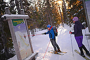 Altai Skiing in Pyh‰ ski resort, Lapland, Finland