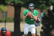 Ole Miss quarterback Ryan Buchanan (9) at football practice in Oxford, Miss. on Sunday, August 4, 2013.