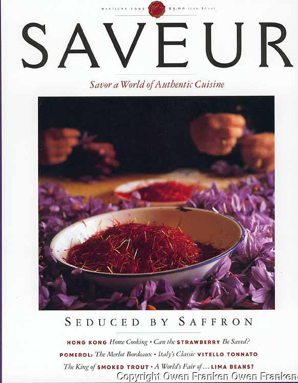 Saveur magazine cover, Saffron