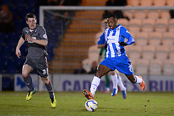 Colchester's Sanchez Watt runs with the ball - Photo mandatory by-line: Mitchell Gunn/JMP - Tel: Mobile: 07966 386802 04/03/2014 - SPORT - FOOTBALL - Colchester Community Stadium - Colchester - Colchester v Rotherham - Sky Bet League 1