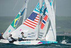 2012 Olympic Games London / Weymouth<br /> Scheidt Robert, Prada Bruno, (BRA, Star)<br /> MENDELBLATT Mark, Fatih Brian, (USA, Star)