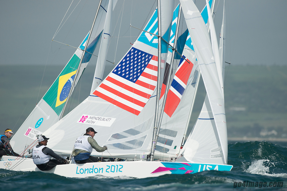 2012 Olympic Games London / Weymouth<br /> Scheidt Robert, Prada Bruno, (BRA, Star)<br /> MENDELBLATT Mark, Fatih Brian, (USA, Star)