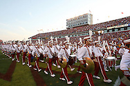 September 3, 2009: The Iowa State marching band exits the field at the beginning of the first half of the Iowa State Cyclones' 34-17 win over the North Dakota State Bison at Jack Trice Stadium in Ames, Iowa on September 3, 2009.