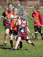 Lakes Region Lacrosse U11 girls versus Concord Crush May 1, 2011.