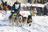 3/4/2007:  Willow, Alaska -  Rookie Silvia Willis of Deshka River, AK at the 35th Iditarod Sled Dog Race