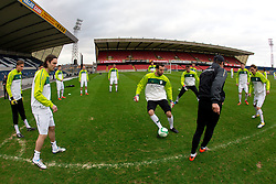 Marko Suler and Samir Handanovic during practice session of Slovenia National football team One day before EURO 2012 Quaifications game between National teams of Slovenia and Northern Ireland, on March 28, 2011, in Windsor Park Stadium, Belfast, Northern Ireland, United Kingdom. (Photo by Vid Ponikvar / Sportida)