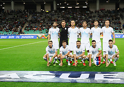 Team Slovenia posing for a group photo during football match between National Teams of Slovenia and Bulgaria in Final Tournament of UEFA Nations League 2019, on September 6, 2018 in SRC Stozice, Ljubljana, Slovenia. Photo by Morgan Kristan / Sportida