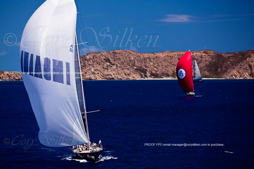 Astro sailing in the Caribbean Superyacht Regatta and Rendezvous, race 2.