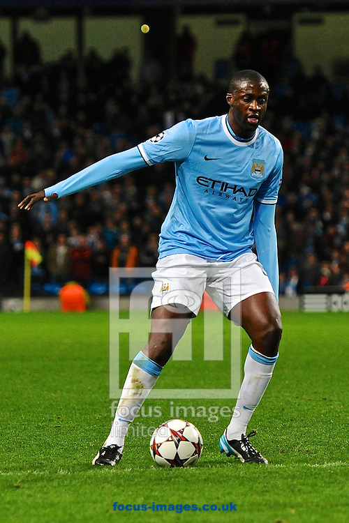 Picture by Ian Wadkins/Focus Images Ltd +44 7877 568959<br /> 27/11/2013<br /> Yaya Tour&eacute; of Manchester City during the UEFA Champions League match at the Etihad Stadium, Manchester.