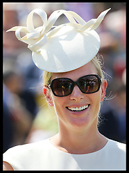Image licensed to i-Images Picture Agency. 31/07/2014. Goodwood. United Kingdom. Zara Phillips at Ladies Day at Glorious Goodwood.  Picture by Stephen Lock / i-Images
