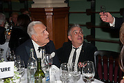 SIR JOHN RICHARDSON; RIFAT OZBEK, The London Library Annual  Life in Literature Award 2013 sponsored by Heywood Hill. The London Library Annual Literary dinner. London Library. St. james's Sq. London. 16 May 2013.