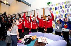 Richard O'Donnell, Jamie Paterson, Aden Flint, Luke Freeman and Max O'Leary of Bristol City join a choir to sing Christmas Carols during Bristol City's visit to the Children's Hospice South West at Charlton Farm - Mandatory by-line: Robbie Stephenson/JMP - 21/12/2016 - FOOTBALL - Children's Hospice South West - Bristol , England - Bristol City Children's Hospice Visit