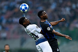 September 18, 2018 - Serge Aurier of Tottenham Hotspur and Kwadwo Asamoah of Inter Milan fight for the ball during the UEFA Champions League Group B match between Inter Milan and Tottenham Hotspur at Stadio San Siro, Milan, Italy on 18 September 2018. Photo by Giuseppe Maffia. (Credit Image: © AFP7 via ZUMA Wire)